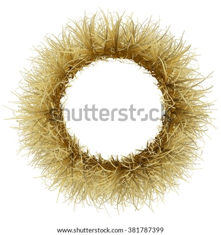 Frame made of straw - stock photo