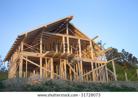 Frame of a house - stock photo