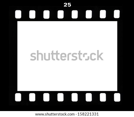 Frame of a photofilm shot at number twenty five - stock photo