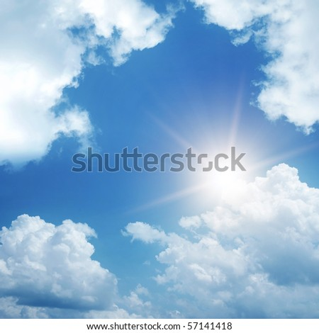 frame of clouds and sun on sky