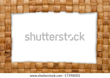 Frame of handmade basket from reed - stock photo