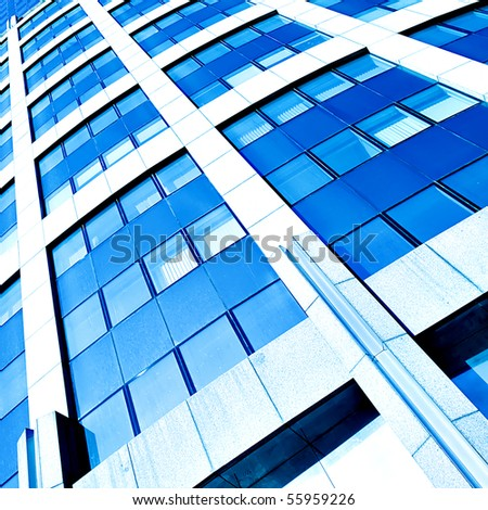 frame of huge glass business building - stock photo