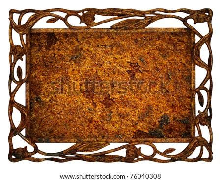 Frame of iron - stock photo
