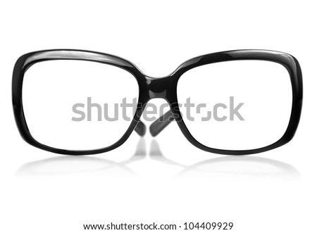 Frame of modern sunglasses useful to insert text or images where the eyes should be - stock photo