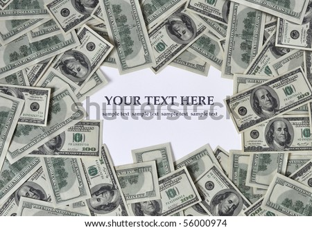 Frame of money - stock photo