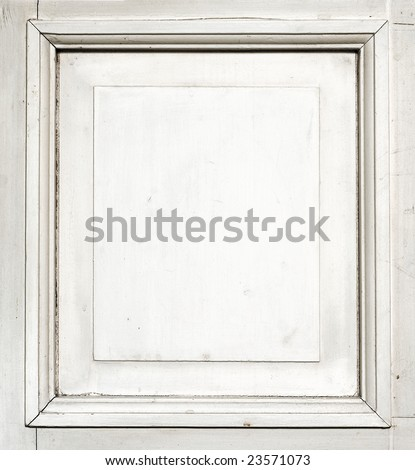 Frame of old whitewood rough texture Free space for Your photo or text - stock photo