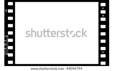 Frame of photographic film (seamless) isolated on white background - stock photo