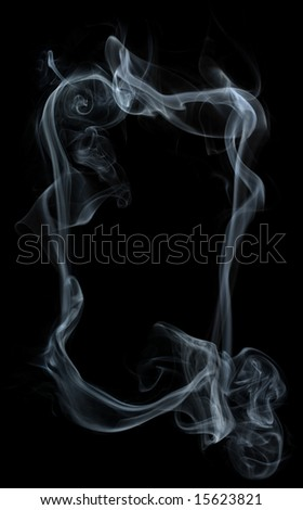 Frame of smoke - stock photo