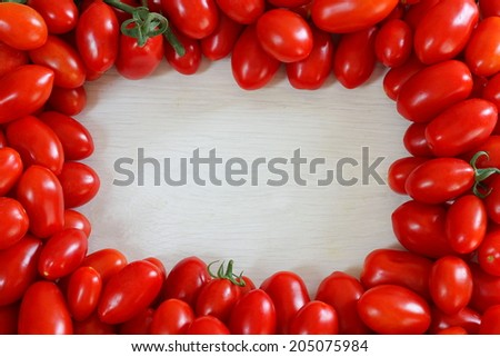 Frame Tomatoes Stock Photo (Royalty Free) 205075984 - Shutterstock