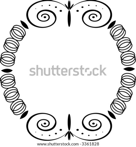 Frame - Old-Fashioned Interlocking Rings - stock photo