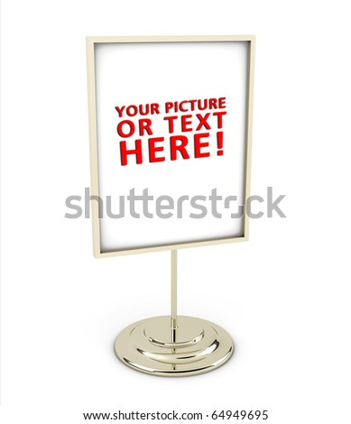Frame On Stand Made Out Shiny Stock Illustration 64949695 - Shutterstock