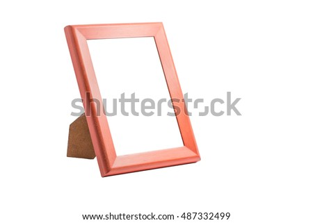 Frame on a white background,with clipping path
