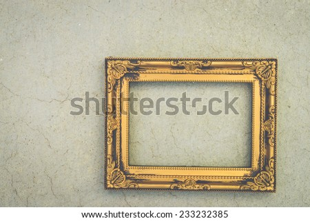 Frame on concrete background - vintage effect style picture