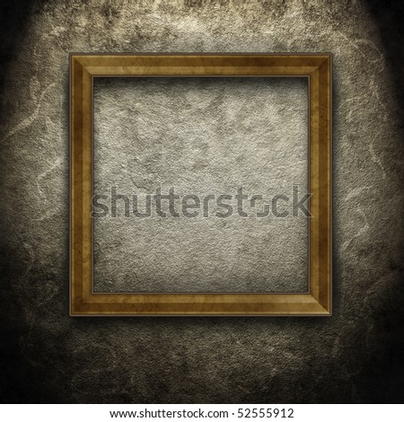 frame on dirty wall