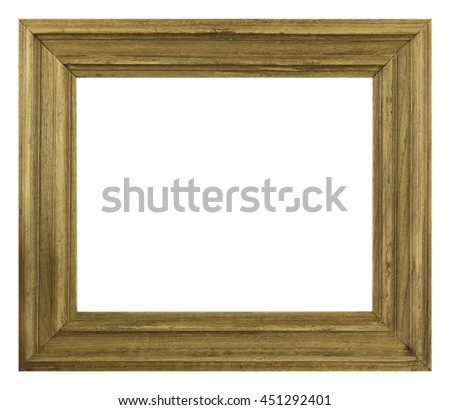 frame picture frame wooden carved pattern isolated on a white background - stock photo