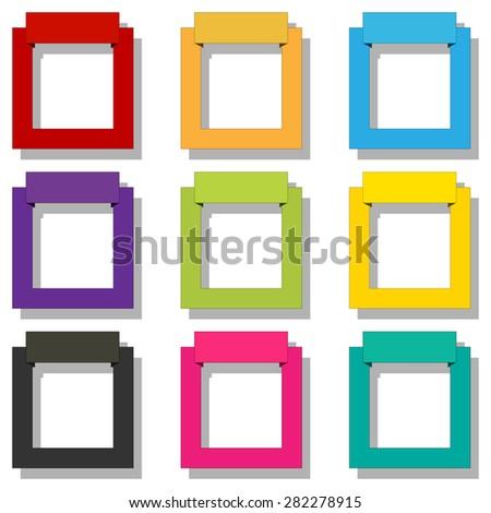 Frame set - stock photo