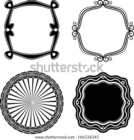 Frame Set ornamental - stock photo