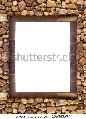 Frame stones for spa background