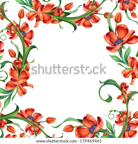 Flower page border Stock Images Royalty Free Images Vectors