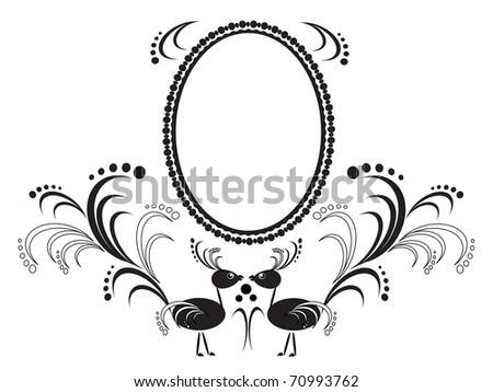 Frame with birds - stock photo
