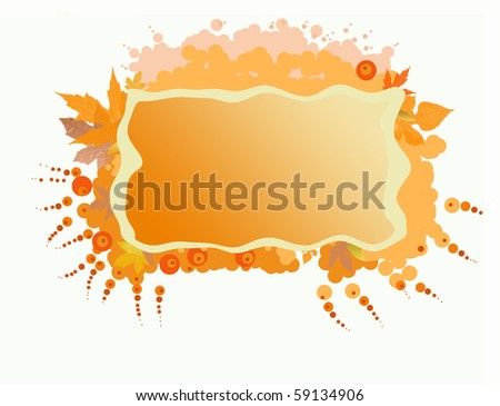 Frame with fall leaves - stock photo