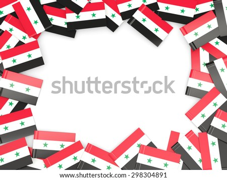 Frame with flag of syria isolated on white - stock photo
