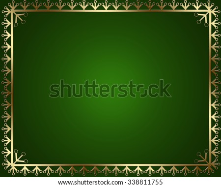 Frame with gold ornaments. - stock photo