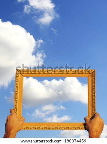 Frame with sky background - stock photo