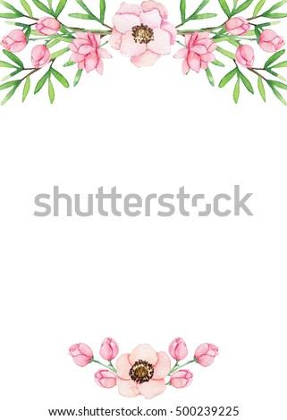 Floral Background Roses Decorating Cardsletterheads Stock ...