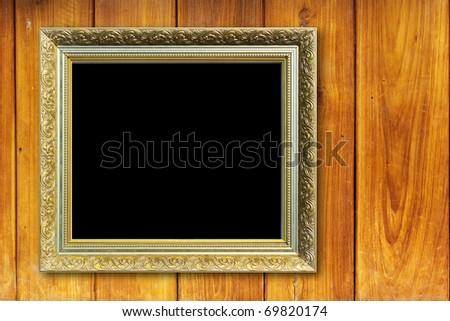 frame  wood - stock photo