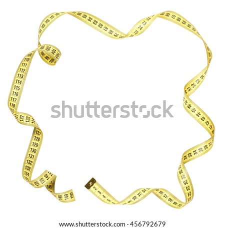 frame Yellow centimeter tape