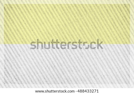 framed dual color corrugated cardboard surface close up - copy space