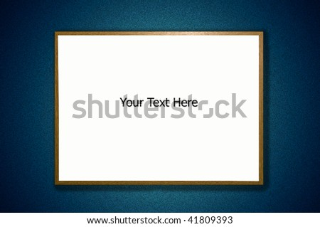 Framed White board with space for text and drop shadow on an abstract colored background - stock photo
