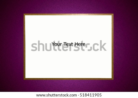 Framed White board with space for text on an abstract colored background