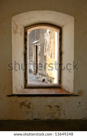 Framed Window Opening Old San Juan Stock Photo (Safe to Use ...