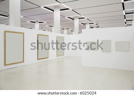 frames in the hall 3 - stock photo