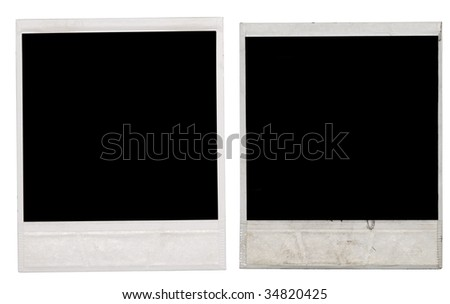 frames isolated on white - stock photo