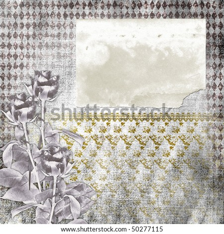 Framework for greeting or invitation on the paper background. - stock photo
