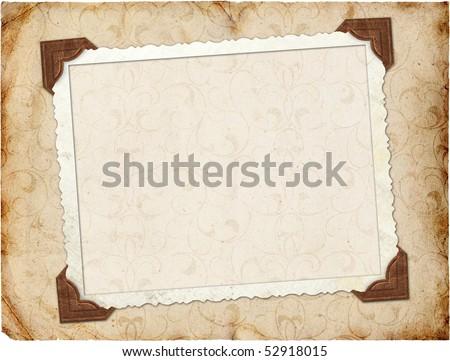 Framework for invitation or congratulation - stock photo