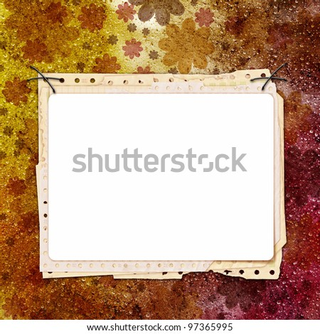 Framework for invitation or congratulation. - stock photo