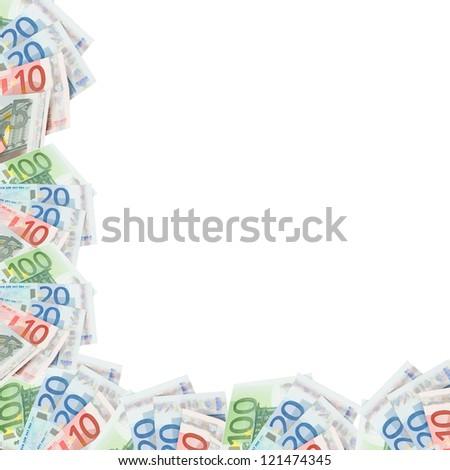 Framework of Euro banknotes / Euro Money - stock photo