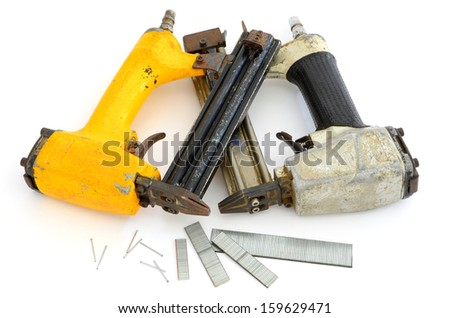 Framing tools, nail guns - stock photo