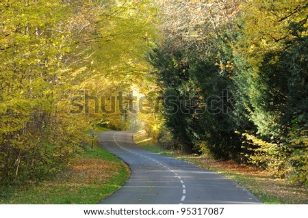 France, a little country road in Chevreuse valley