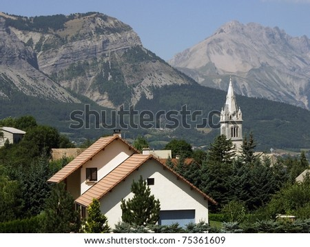 france alps haute alpes le champsaur region near gap