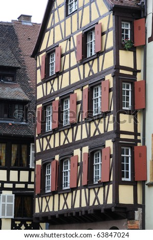 France, Alsace, historic houses in Colmar