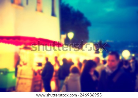 France background blur street lights - stock photo