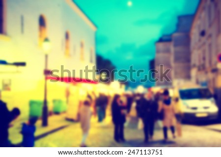 France background Montmartre blur - stock photo
