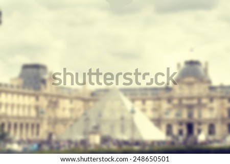 France background Paris blur - stock photo