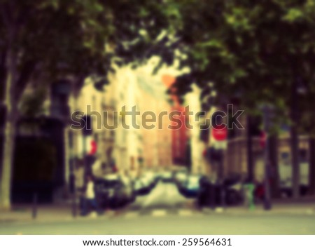 France blur background hipster  - stock photo