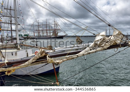 FRANCE. BREST-JULY-17, 2012: festival of sailing in the port of Brest